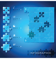 Modern Jigsaw Puzzle Business Infographic vector image