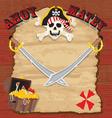 Pirate party invitation vector image