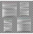 Plastic zipper bag template vector image