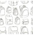 School backpacks set pattern vector image