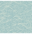 Sea waves seamless pattern vector image