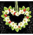 Strawberry love frame vector image