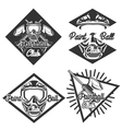 Vintage paintball emblems vector image