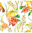Watercolor pattern Tropical and flowers White vector image