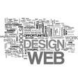 web design schools text word cloud concept vector image