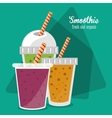 Smoothie drink glass design vector image