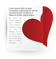Heart attached to paper vector image