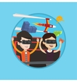 Couple in vr headset riding on roller coaster vector image vector image