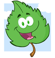 Green Leaf Cartoon Character vector image vector image