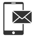 mobile mail flat icon vector image