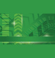 green cyber energy background vector image vector image