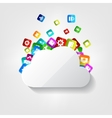 Cloud icon Application button vector image