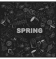 Spring chalk line art design vector image