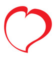 asymetrical heart icon vector image