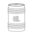 barrel of oiloil single icon in outline style vector image