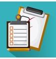 Checklist design document mark vector image