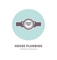 house plumbing agency emblem with water counter vector image
