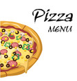 pizza menu pizza background image vector image