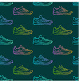 Seamless pattern made of sneakers vector image