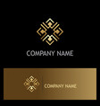 square gold decoration logo vector image