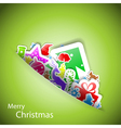Stickers merry Christmas card eps10 vector image