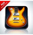 Guitar musical app icon vector image