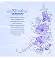 Violet bindweed vector image vector image