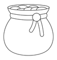 Bag of gold icon  outline style vector image