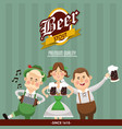 man woman oktoberfest design vector image