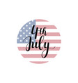 calligraphy 4th of july celebration icons vector image
