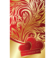 abstract ornate background with hearts vector image vector image