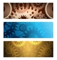 Gears Banners set vector image