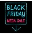 Black Friday poster glowing light letter on black vector image