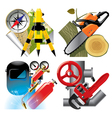 Work profession icons vector image