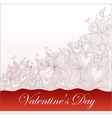 background patterns Valentines Day vector image