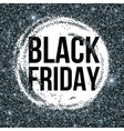 Black Friday sale lettering background Template vector image