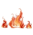 Bright fire flame with sparks vector image