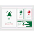 card template with Christmas tree vector image