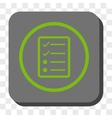 Checklist Page Rounded Square Button vector image