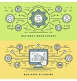 Flat line Business Management and Planning Concept vector image