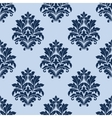 Floral seamless pattern with blue flowers vector image