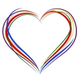 LGBT heart symbol Sign of heart outline Rainbow vector image