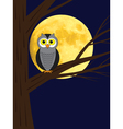 owl sitting on a branch of tree vector image