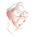 Warren Buffett vector image