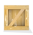 Wooden box icon vector image