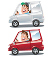 happy driver vector image