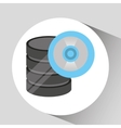 hand holds data cd storage icon vector image