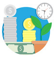 growth finance capital icon vector image vector image