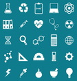 Science icons on blue background vector image