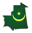 mauritania africa map flag vector image